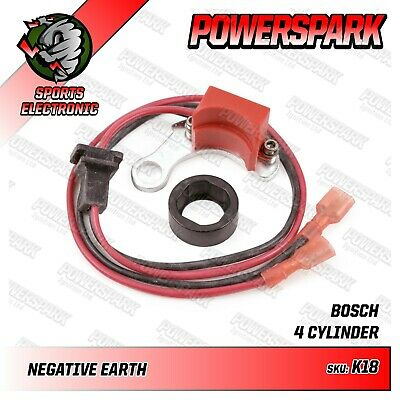 Powerspark Electronic Ignition Kit for Bosch 4Cyl 2 Piece LH Points Distributor