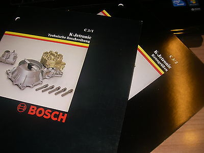 BOSCH - 1979 -K.JETRONIC - 100% German-Tedesco -only  C3 /1 +  C3 /2 -