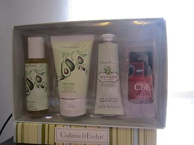 Crabtree Evelyn Avocado Body Lotion, Hand Cream + Shower Gel+Apple Nail Polish