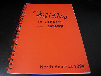 Phil Collins in Concert Itinerary Book for 1994 North America Tour Diary Genesis