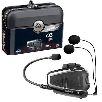 Cardo Scala Rider Q3 Solo Bluetooth Intercom Motorcycle Helmet Headset Btsrq3