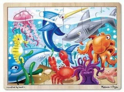 Melissa & Doug Under the Sea Wooden Jigsaw Puzzle - 24 Pieces #2938-New