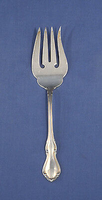 """Reed and + Barton Sterling Silver HAMPTON COURT Cold Meat Serving Fork 8-1/2"""""""