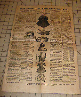 1865 GILBERT'S INSTRUCTOR Advertising Page