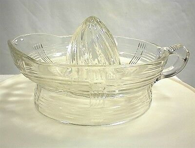 Vintage Large Clear Glass Reamer Grapefruit Orange Lemon Lime Juicer Kitchen