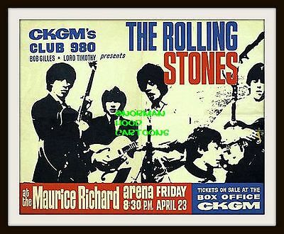 "ROLLING STONES,FRANCE- MINI-POSTER PRINT 7"" x 5"""