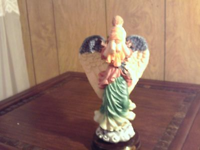 UNIQUE COLLECTION CERAMIC ANGEL WITH CHILD