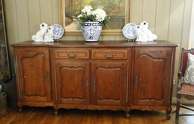 Antique Country French Buffet Sideboard Server Carving