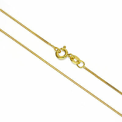 "Gold Dipped Sterling Silver Fine Diamond Cut Curb Chain 14 - 32 "" Inches"