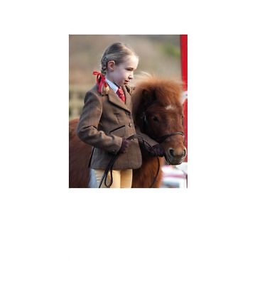 SHIRES CHILDRENS HUNTINGDON SHOW JACKET kids classic wool tweed showing riding