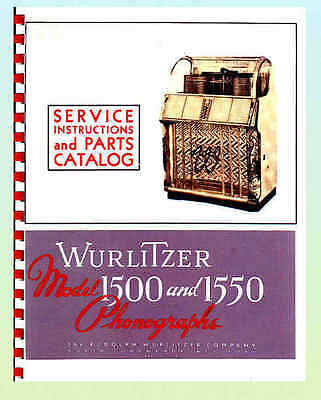 Wurlitzer 1500 -1550 Service Manual