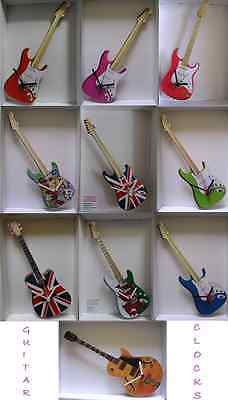 Stratocaster & Gibson Guitar Wall Clock.10 Designs.new & Boxed