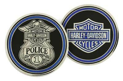 Harley-Davidson Challenge Coin, Police Trans with Bar & Shield Logo 8003111
