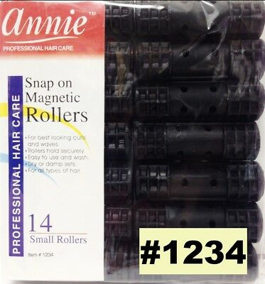 Annie Snap On Magnetic Rollers 14 Small Rollers #1234