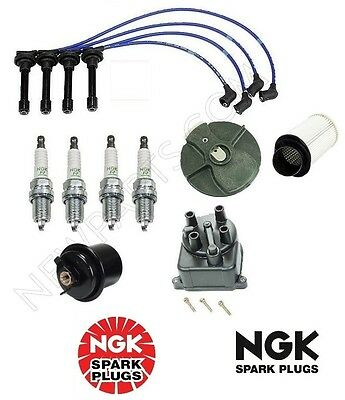oem Tune Up Kit Integra B18B1Non-VTec Air&Gas Filters,Cap,Rotor NGK Wires&Plugs