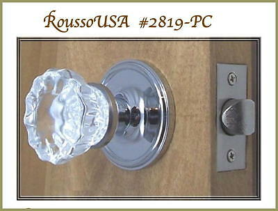 Lot of Five(5) Finest Fluted 12point Crystal Passage Knob Sets The Best Hardware