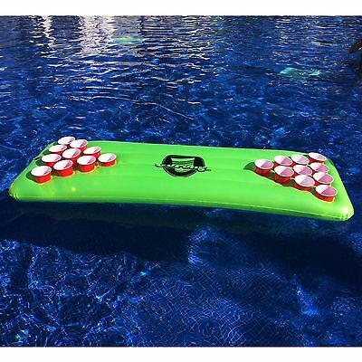 The Pool Pong Table - Neon Green - Inflatable Beer Pong Table - by GoPong