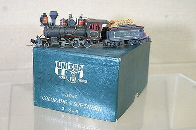 UNITED SCALE MODELS HOn3 BRASS C&S COLORADO & SOUTHERN CNRR 2-6-0 LOGGING LOCO 5