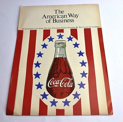 Coca Cola Coke Broschüre USA 1967 - The American Way of Business