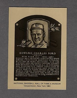 WHITEY FORD, Yankees Official HoF METALLIC Plaque-card (1 of 1,000) NM/MT