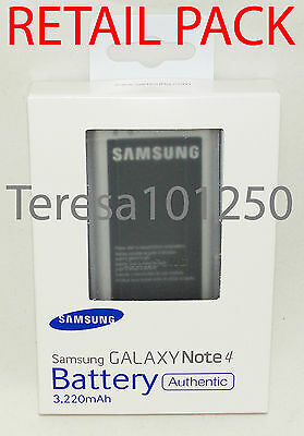 Genuine Original Samsung Note 4 Battery Sm-910C Eb-Bn910Bbe *retail Packed*