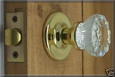 Premium 12point Fluted Depression Crystal PRIVACY Door Knob Set-UPGRADED