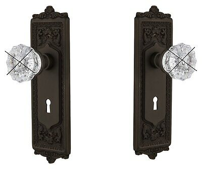 Two Oil Rubbed Bronze Egg&Dart Estate Backplates-for Antiques Knobs-fit any Door