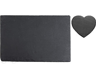 12 Piece Natural Slate Placemats & Coasters Tablemat Place Mat Drinks Dinner Set