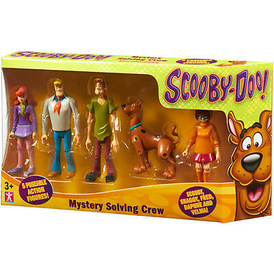 Scooby Doo Mystery Solving Crew Action Figures 5 Pack NEW