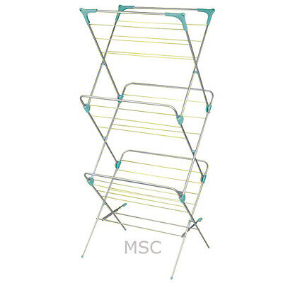 3 Tier Folding Clothes Airer Drying Rack Free UK Postage