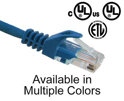 CAT5E Snagless Network Ethernet Cable Lan Internet Patch Cords Networking 1'-25'
