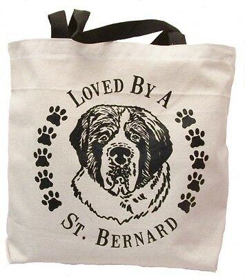 Loved By A St. Bernard Tote Bag New  MADE IN USA