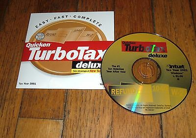 Intuit TurboTax Deluxe for Tax Year 2001 - PC