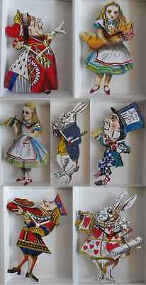 Alice In Wonderland Wall Clock.new & Boxed.7 Designs To Choose From.made In Uk.