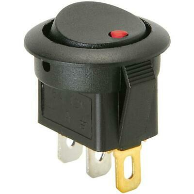 Red Led On Off Quality Push Button Toggle Switch 12 Volt Flat Panel Mount