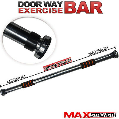 MAXSTRENGTH Chin Pull Up 150cm Adjustable Home Door Bar Gym Fitness Workout