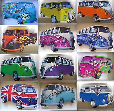 Vintage / Classic Vw Camper Van Wall Clock.new & Boxed.choose From 22 Designs.
