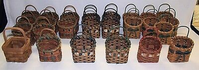 "LOT of 25 NEW Wicker Craft Baskets 3""x3"" - 5 Styles - Liquidating Craft Business"