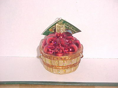 Apples in basket Old World Christmas glass ornament