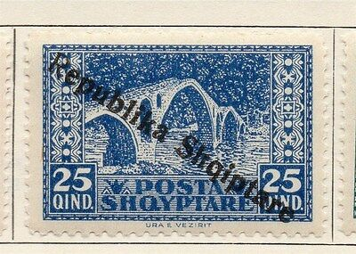 Albania 1922-24 Early Issue Fine Mint Hinged Optd 25q. 121705
