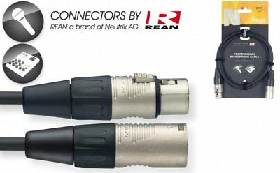 Stagg N-Series 10 mtr Professional Microphone Cable NMC10R