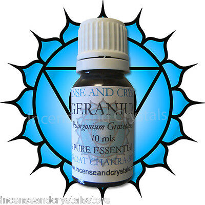 10ml GERANIUM (Pelagonium Gravealens)  Throat Chakra 100% Pure Essential oil