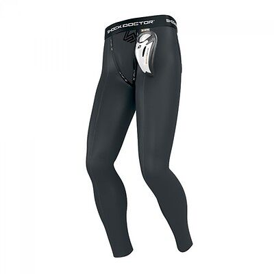 Shock Doctor Long Compression Legging mit Cup, S-XL. MMA, Grappling, Freefight