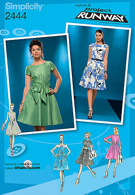 Sewing Pattern Simplicity 2444 Misses' Dress Collar & Sleeve Variations 4 - 20