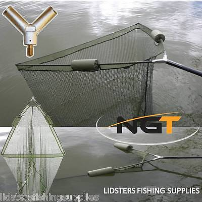 "42"" Inch Large Carp Pike Fishing Landing Net With dual 2 Net Floats NGT Tackle"