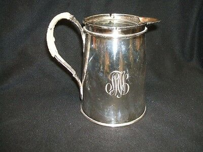 MONOGRAMMED SILVERPLATE SYRUP PITCHER Wrapped Handle                 9