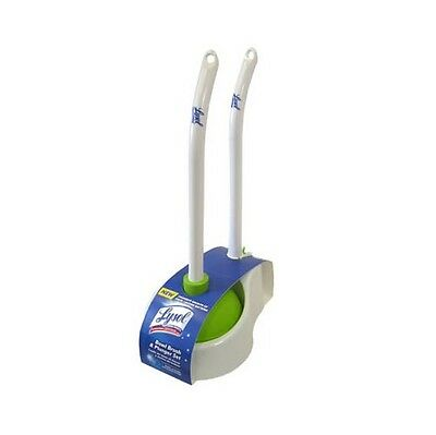 Lysol Toilet Dual Bowl Brush w/ Plunger & Caddy Holder