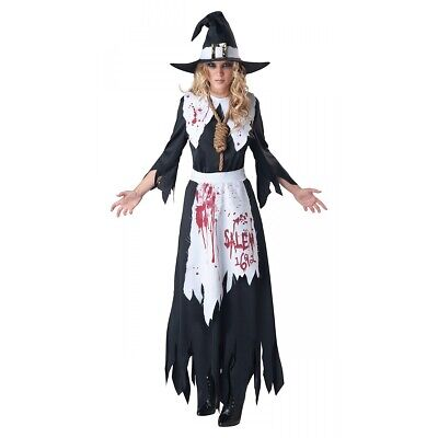 Salem Witch Costume Adult Scary Halloween Fancy Dress