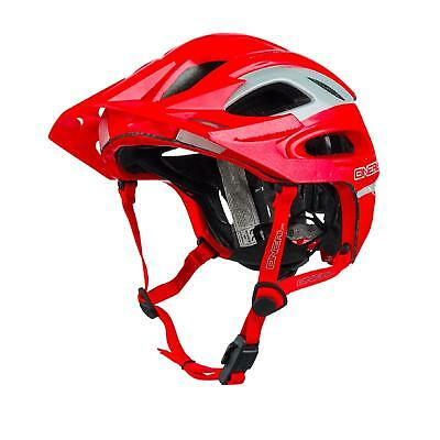 ONeal Orbiter II Fidlock Fahrrad Helm Grau Rot All Mountain Bike MTB Freeride AM