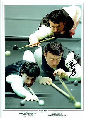 Jimmy WHITE Signed Autograph MASSIVE 16x12 NEW Snooker Montage Photo AFTAL COA